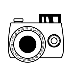 Outline photo camera picture beach vector