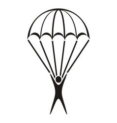 Parachute jumper icon vector