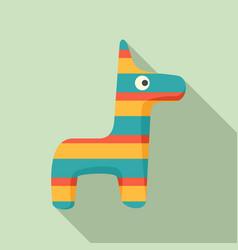 Pinata horse icon flat style vector