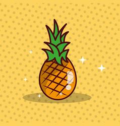 pineapple nutrition diet fresh image vector image