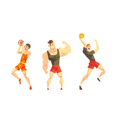 professional athletes doing sports set male vector image