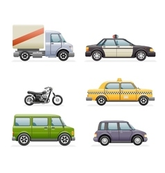 Retro Car Icons Set Realistic Design vector image