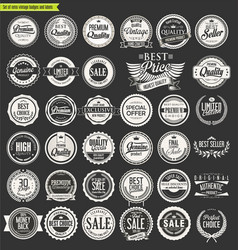 Retro vintage badges and labels collection 3 vector