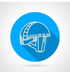 Round blue icon for sport helmet vector image