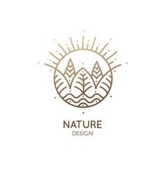 Round logo landscape vector
