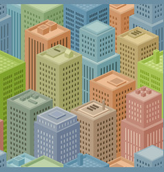 seamless isometric city background vector image