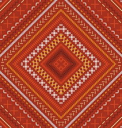 Seamless red ethnic pattern vector