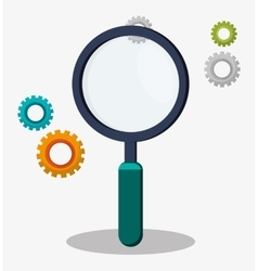 Search magnifier gear work vector