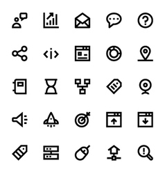 SEO Web Optimization Icons 3 vector