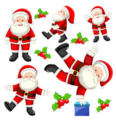 set of different santas vector image
