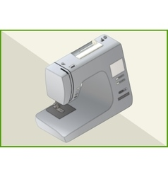 sewing machine 3d vector image