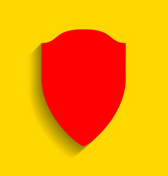 shield sign red icon with vector image vector image