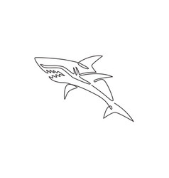 single continuous line drawing aggressive vector image