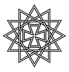 Star ertsgamma amulet ancient christian talisman vector