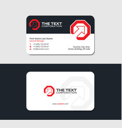 Startup business card design template red color vector