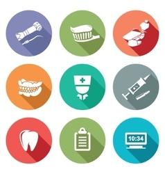 Stomatology Icons Set vector