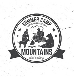 summer camp vector image