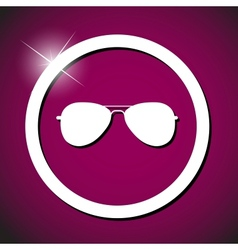 Sun glasses icon vector