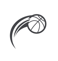 Swoosh basketball logo icon vector