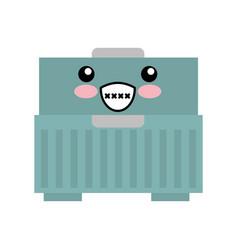 tool box kawaii character vector image vector image