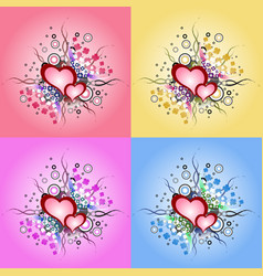 valentine day vintage design element vector image