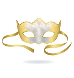 venetian gold carnival mask vector image