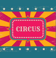 Vintage poster for circus vector
