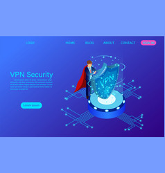 Virtual private network security technology vector