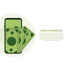 web concept for online banking modern banner for vector image