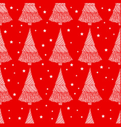 bright new year seamless background christmas vector image vector image