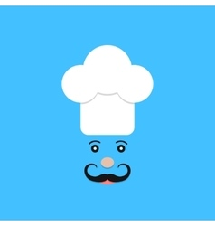 physiognomy of chef on blue background vector image vector image