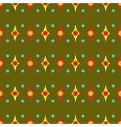 Rhombus and polka dot geometric seamless pattern 7 vector image
