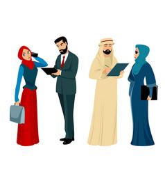 arab businessmen and businesswomen vector image