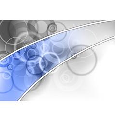 background blue grey corner vector image vector image