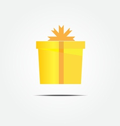 gold gift box vector image