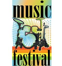 Music festival vector image