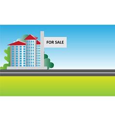 real estate sale background vector image vector image