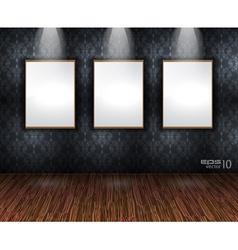 showroom wall vector image vector image
