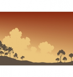 trees and sky vector image