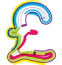 Colorful Grunge font vector image