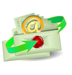 envelopes with an email vector image