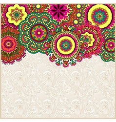 floral background with circle flower design vector image