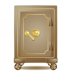 old safe with a combination lock vector image
