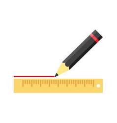 pencil writing with ruler vector image