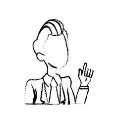 portrait male business man cartoon work people vector image
