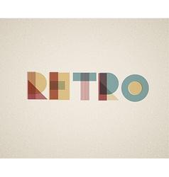 retro lettering vector image vector image