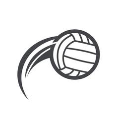 swoosh volleyball logo icon vector image vector image