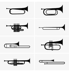 Trumpets vector image