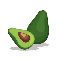 Avocado nutrition healthy image vector