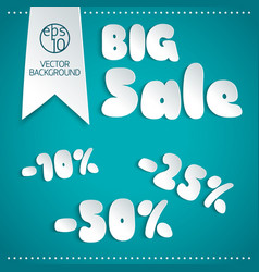 big sale background in paper style vector image